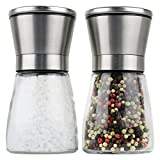 Salz-und-Pfeffermhle-ideal-geeignet-als-Gewrzmhle-2-teiliges-Set-mit-einstellbarem-Keramikmahlwerk-und-Salzmhle-aus-Edelstahl