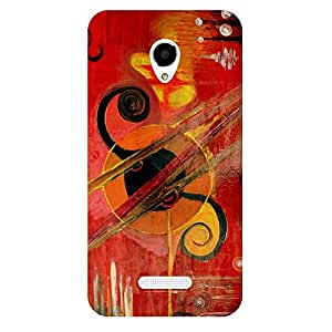 Zeerow 661AR Mobile Back Cover for Micromax Q391