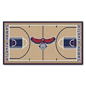 FANMATS NBA Atlanta Hawks Nylon Face NBA Court Runner-Large by Fanmats