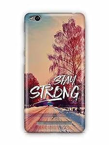 YuBingo Stay Strong Designer Mobile Case Back Cover for Xiaomi Redmi 3S
