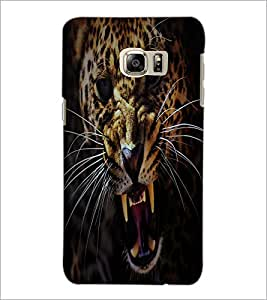 PrintDhaba Roaring Leopard D-2164 Back Case Cover for SAMSUNG GALAXY NOTE 5 (Multi-Coloured)