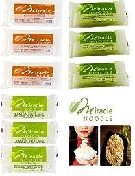 Miracle Noodle Variety Pack : 9 Bags (Includes 3 Shirataki Angel Hair, 3 Shirataki Rice & 3 Shirataki Fettuccini)