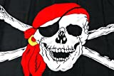 Edealing 3PCS espeluznante de Halloween Square Bar decorativo esqueleto cráneo de la bandera pirata