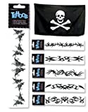 """Pirate Costume Accessory 8"""" Arm Band Temporary Tattoo"""