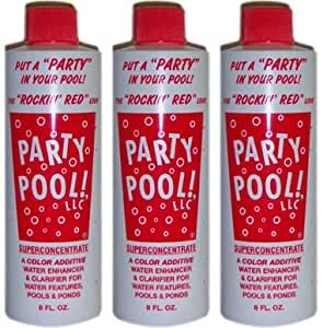 Amazon Com 3 Pack Party Pool Color Additive Rockin Red