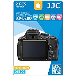 JJC LCP-D5300 ultra hard polycarbonate LCD Film Screen Protector For NIKON D5300 (2 Kits)