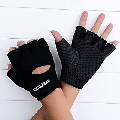 Antiskid Ventilation Rubber Padded Gloves for Weight Lifting Fittness Training Cycling Gym Sports from VeeCool