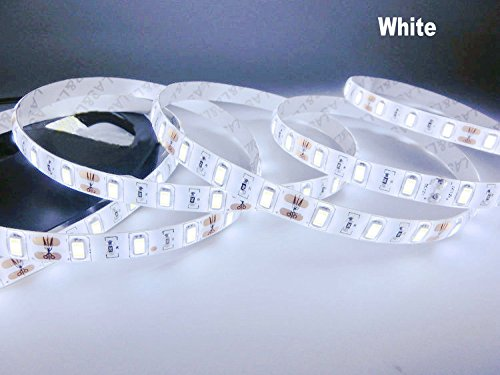 Hkbayi Super Bright 5M 5730 Smd Led Strip Flexible Light 12V Waterproof 60Led/M Led Chip 5730 Bright Than 5630 (White)