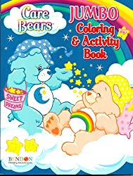 Care Bears Jumbo Coloring & Activity Book Bedtime and Cheer Bear (96 Pages)