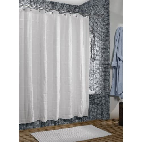 Standard Shower Curtain Length Grey Cloth Shower Curtain