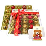 Delights In Hearts Collection Of Nicely Wrapped Chocolate Box With Sorry Card - Chocholik Luxury Chocolates