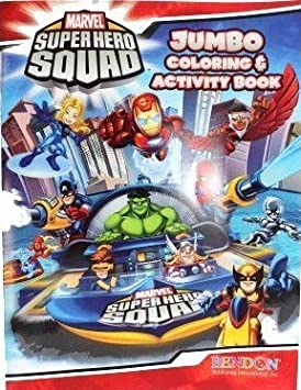 Marvel Super Hero Squad ~ Coloring & Activity Book (A) by Bendon Purlishing (English Manual)