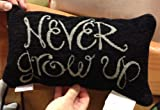 Disney Park Never Grow Up Decorative Toss Pillow Decorator