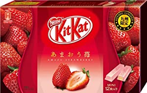 Japanese Kit Kat - Amao Strawberry Chocolate Box 5.2oz (12 Mini Bar)