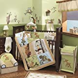 Lambs & Ivy Enchanted Forest 6 Pc Baby Crib Bedding Set, Green (Discontinued by Manufacturer) (Discontinued by Manufacturer)