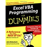 Excel VBA Programming For Dummiesby John Walkenbach