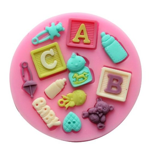 Yunko Baking ABC BABY Toy Molds Silicone Mold Fondant Molds Sugar Craft Tools Chocolate Mould For Cakes