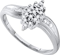 0.10CTW DIAMOND CLUSTER RING
