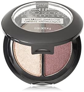 L'Oreal Paris HiP Studio Secrets Professional Metallic Eye Shadow Duos, Electrified, 0.08 Ounces