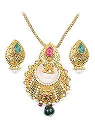 Asian Pearls & Jewels Multi Color Pendant Set - B00NME5ZKQ