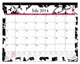 July 2014 - June 2015 Blue Sky Barcelona Desk Pad Calendar 22x 17