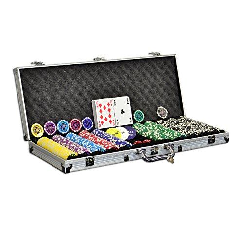 Pokerkoffer Pokerset 500 Laser Pokerchi...