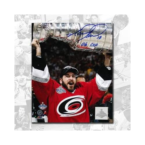 Signed Mark Recchi Photo - 2006 Cup 8x10 - Autographed NHL Photos coupons 2015