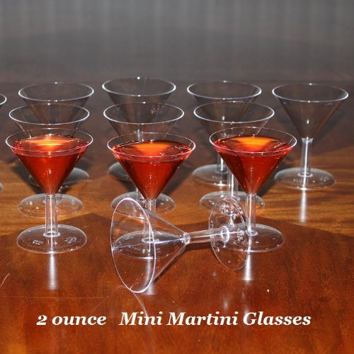 2 ounce - Mini Martini Glasses - Mini Desert Cups - Box of 100 Disposable Plastic (Mini Martini compare prices)