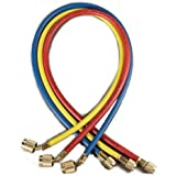 """Yellow Jacket 22985 45 degree SealRight Fitting, 60"""", Red/Yellow/Blue (Pack of 3)"""