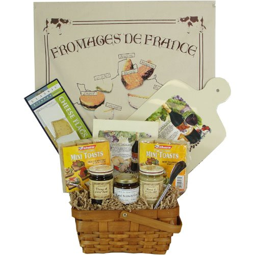 Cheese and Condiments Gourmet French Gift Basket