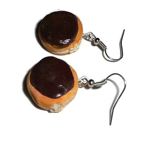 Cream Filled Donut Earrings