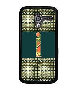 PrintVisa Metal Printed Alphabet Designer Back Case Cover for Motorola Moto X (1st Gen)-D4813