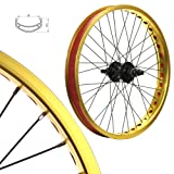 Stars-Cirle BMX BIKE Wheels Wheelset Oversized 20 Inch Gold