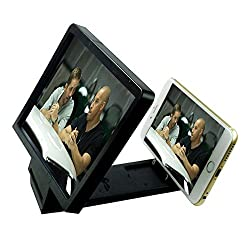 Maxxlite HD Enlarged Screen Foldable Magnifier for all Mobile Phones Black