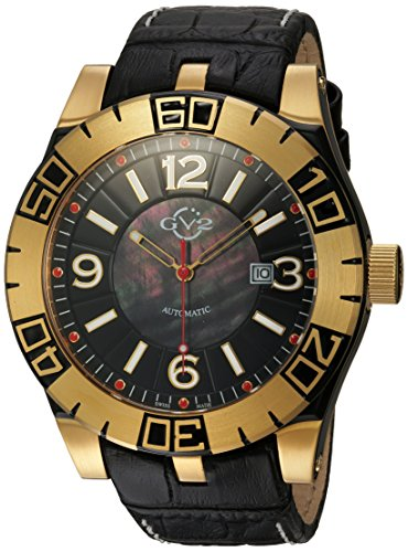 GV2-by-Gevril-Mens-La-Luna-Automatic-Stainless-Steel-and-Leather-Casual-Watch-ColorBlack-Model-8001