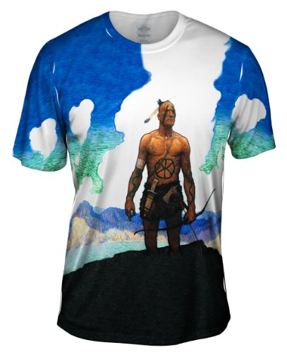 yizzam-nc-wyeth-last-of-the-mohicans-1919-tshirt-mens-shirt-x-large