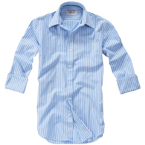 Charles Wilson Boltby Blue Stripe Men'S Casual Shirt : Small