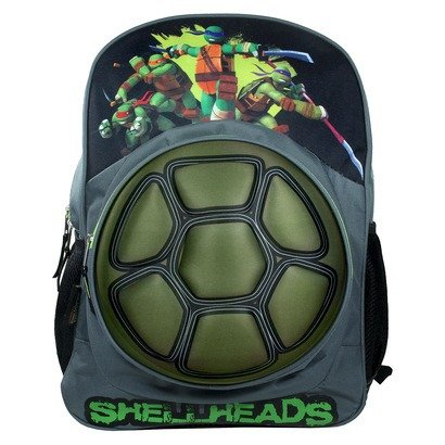 "Teenage Mutant Ninja Turtles Hard Shell Neoprene 16"" Boys TMNT Shellheads School Fullsize Backpack - 1"