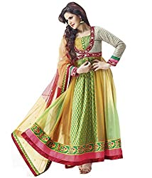 Indiweaves Women Georgette Dress Material (2146T-Iw _Multi-Coloured)