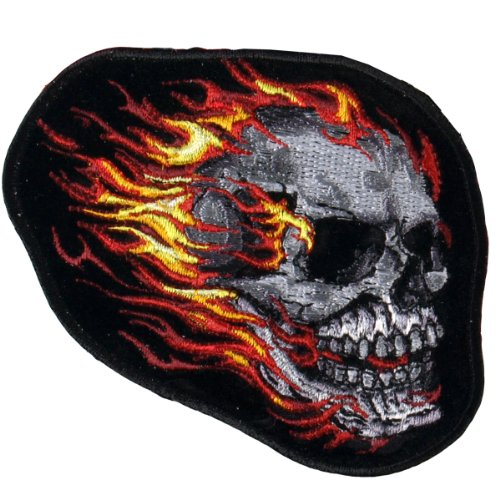Hot Leathers Tribal Mirror Skulls Patch (4