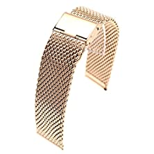 buy Motong Universal Stainless Steel Watch Band Strap For Samsung Galaxy Gear 2 R380, Gear 2 Neo R381, Gear 2 Live R382, Lg G Watch W100, W110, Urbane W150 Asus Zenwatch Pebble Time 22Mm(Rose Golden 2)