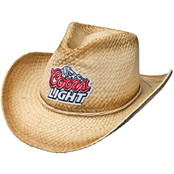 coors light mountain logo straw cowboy hat at amazon men s clothing store