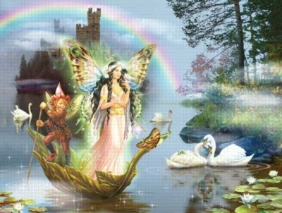 Cheap SunsOut Swan Lake Fairy 1000pc Jigsaw Puzzle by Zorina Baldescu (B004HSBWUS)