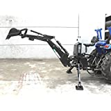 3 Point Hitch PTO BH7600 Hydraulic Farm Tractor Backhoe Attachement Excavator with Bucket, Category 1