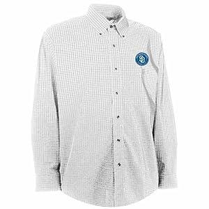San Diego Padres Esteem Button Down Dress Shirt (White) by Antigua