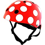 KIDDIMOTO SAFETY HELMET Red and Dotty Size Small