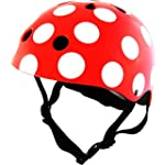 KIDDIMOTO SAFETY HELMET Red and Dotty...