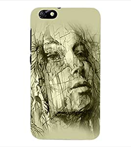 ColourCraft Abstract Back Case Cover for HUAWEI HONOR 4X
