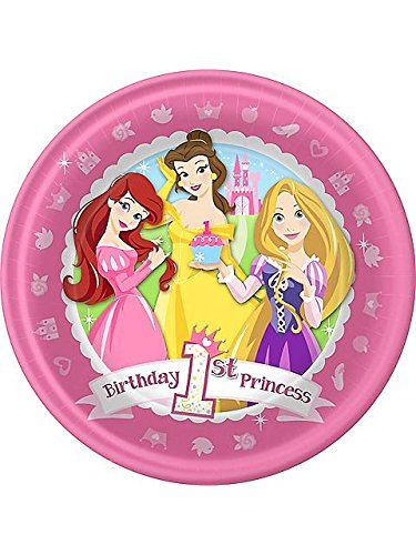 Disney Princess 1st Birthday Dinner Plates Package of 8 - 1