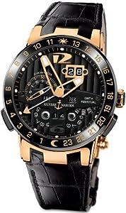 New Mens Ulysse Nardin El Toro 18k Rose Gold Limited Edition Perpetual Calendar Automatic COSC Black Watch 326-03